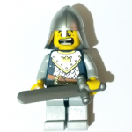 Lego Fantasy Era Castle Crown Knight  minifigure with sword helmet